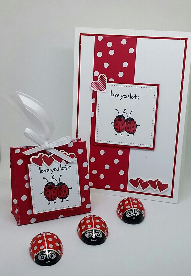 Stampin' Up! Demonstrator stampwithpeg – Sealed with Love : Valentines Treat Bag and Matching Card – With instructions. I found these gorgeous little chocolate ladybirds while out shopp…