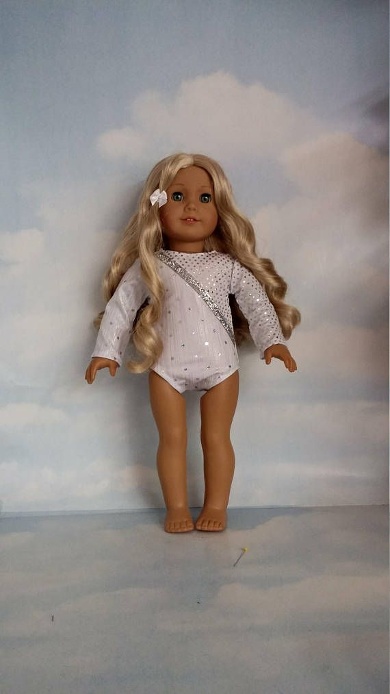 18 inch doll clothes  104 White Leotard handmade to fit the