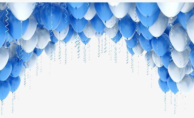Blue Balloon Png Clip Art Blue Balloons Birthday Photo Frame Balloons