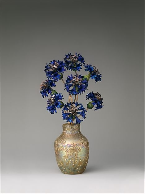 "House of Carl Fabergé. Imperial Cornflowers, ca. 1900–05. Russian. The Metropolitan Museum of Art, New York. (L.2011.66.33) | This work is on view in ""Fabergé from the Matilda Geddings Gray Foundation Collection"" through November 27, 2016."