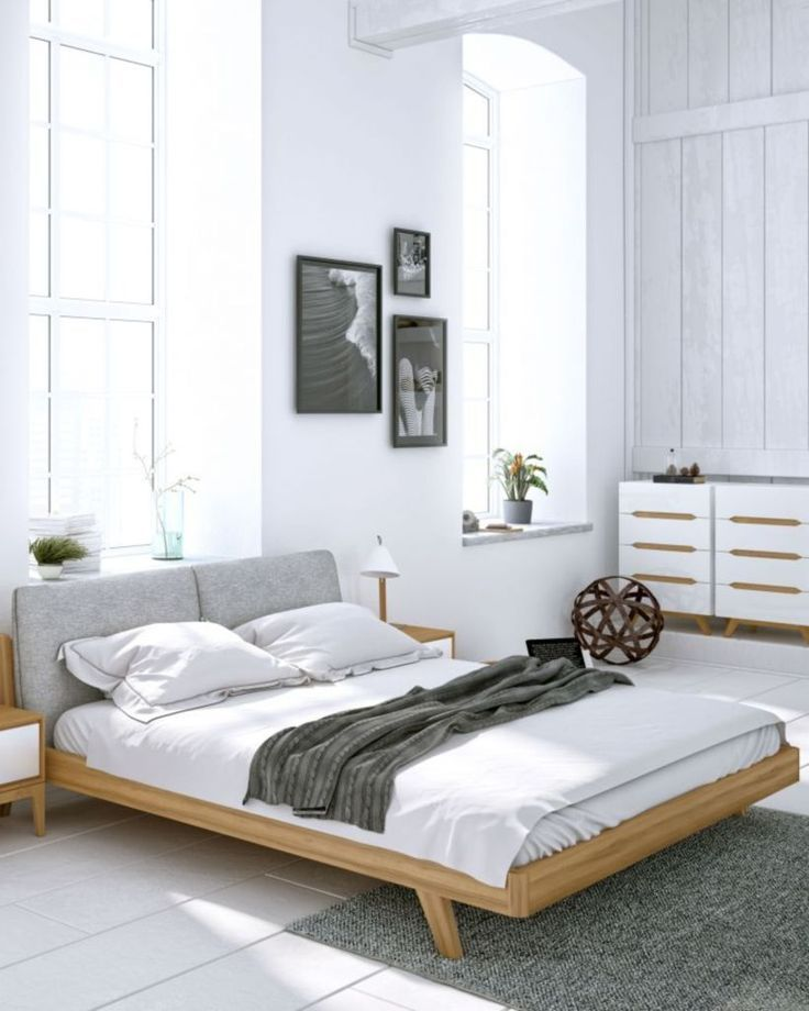 cool 59 Gorgeous Modern Scandinavian Bedroom Design