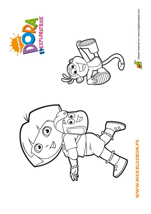 26 best coloriages dora l 39 exploratrice images on pinterest - Dessin de dora et babouche ...