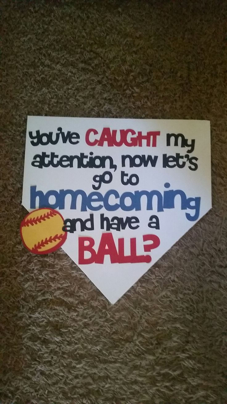 Softball Homecoming Proposal More