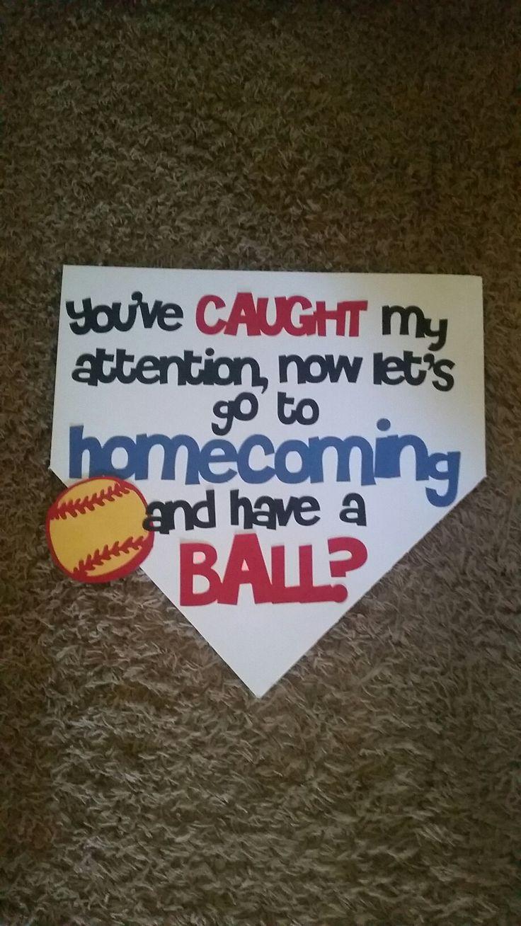 Softball homecoming proposal                                                                                                                                                                                 More