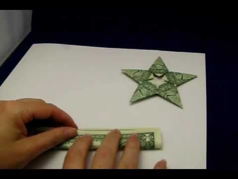 Origami Money Star Tutorial - How to make an origami star out of dollar bills.