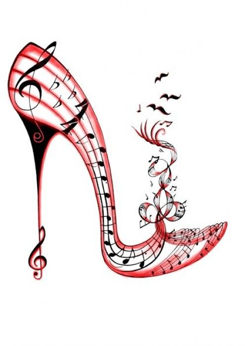 I like how the music sheet is in the shape of a shoe and not only that i like the amount of rhythm it has because it enphasizes the main point: music