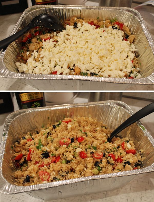 Couscous salad - perfect for potlucks and BBQs! Be sure to re-pin to save for future party and meal planning!