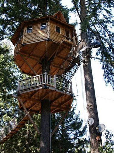 The newest treehouse at Michael Garnier's Treesort, a bed-and-breakfast hotspot in Cave Junction, Ore., is also his highest, a 47-footer situated in a Douglas fir.