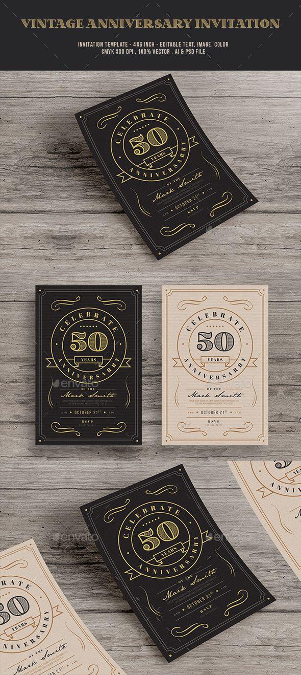 Vintage anniversary Invitation Cards u0026 Invites