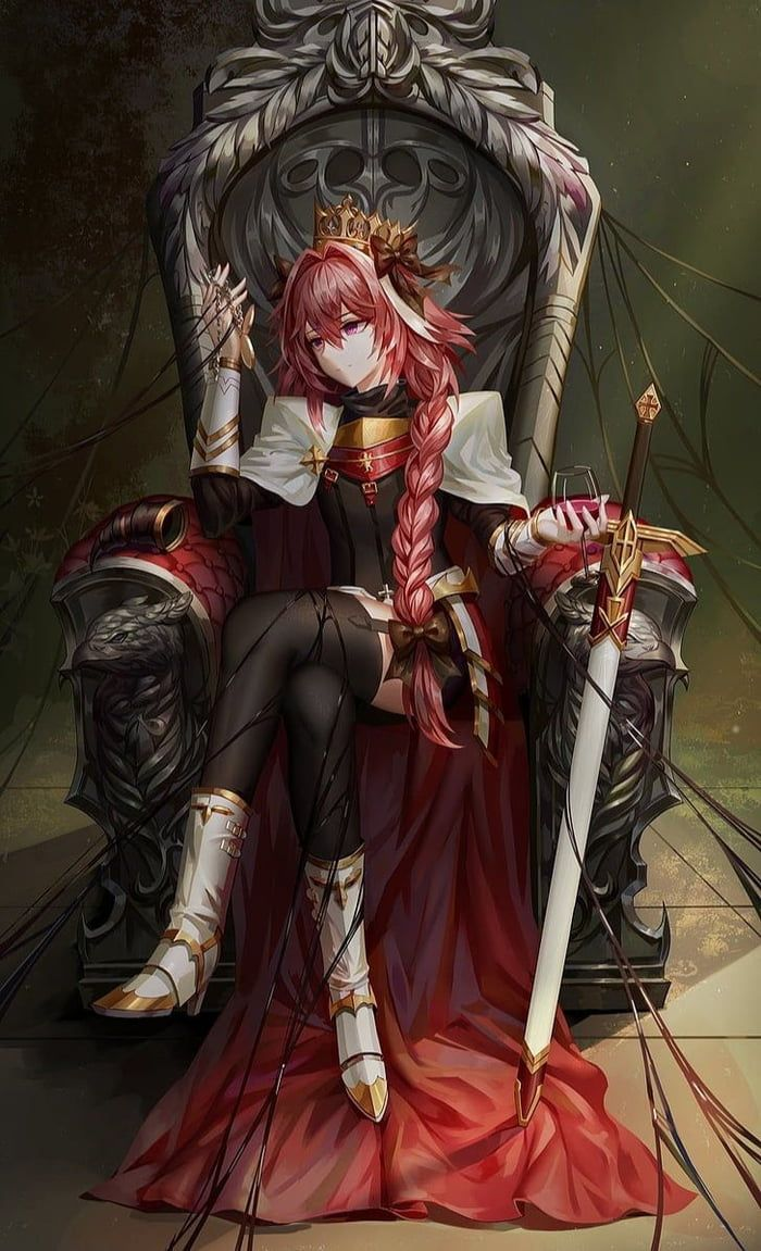 Astolfo In Throne Anime Warrior Queen Anime Anime Characters
