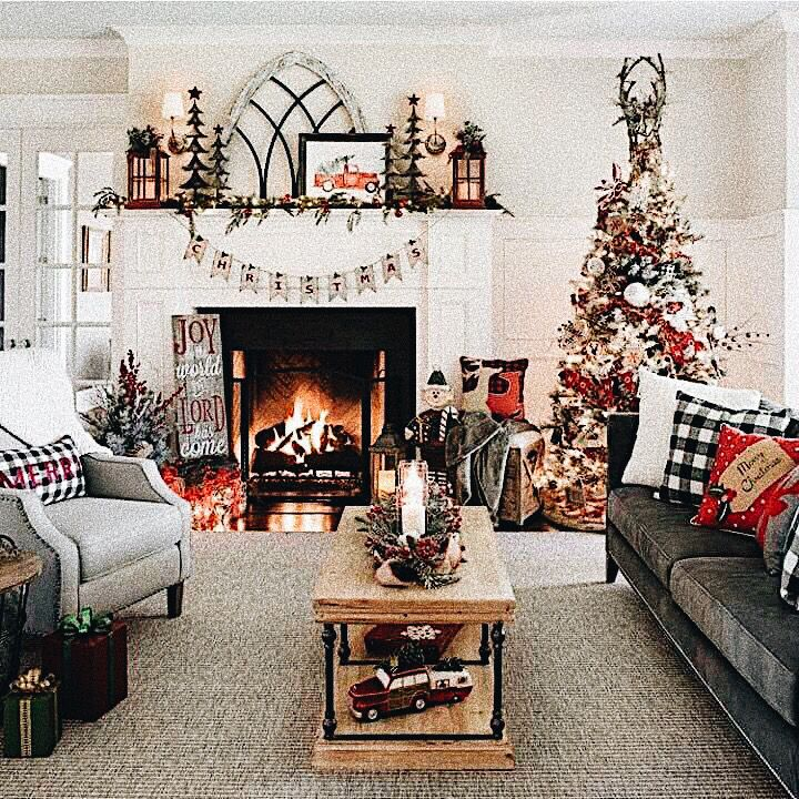 𝐩𝐢𝐧𝐭𝐞𝐫𝐞𝐬𝐭 𝐝𝐞𝐯𝐢𝐥𝐢𝐬𝐡𝐥𝐚𝐮𝐠𝐡 Christmas Decorations Living Room Christmas Room Christmas Living Rooms