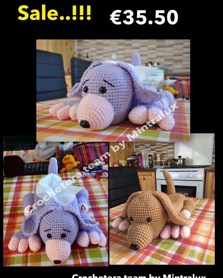Crochet tissue box covers. Miko_Michiko