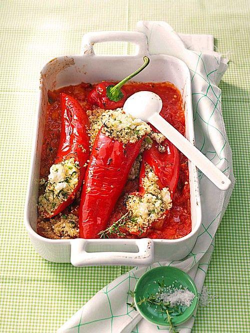 Gefüllte Spitzpaprika mit Couscous, ein schönes Rezept aus der Kategorie Gemüse. Bewertungen: 149. Durchschnitt: Ø 4,4.