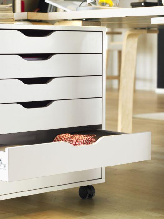 ALEX Ladeblok Op Wielen, Wit. Ikea Office OrganizationIkea ...