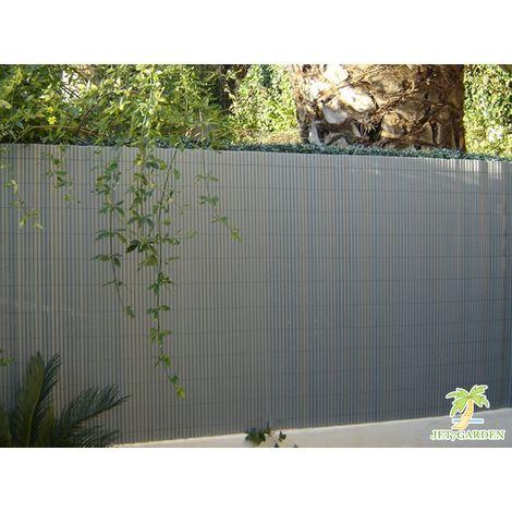 Canisse PVC double face gris perle en rouleau - 3 m - 3 x 1,20 m - JDCAN00064GP - Jardin piscine