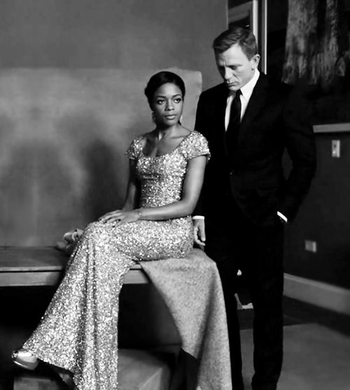 Naomie Harris, Daniel Craig - by Ruven Afanador for The Hollywood Reporter