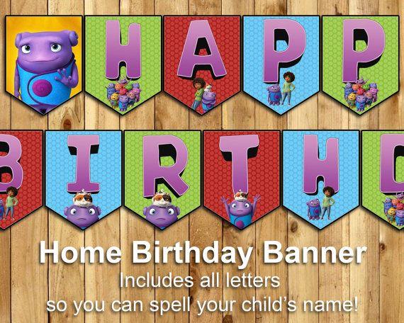 Home Birthday Banner  Almost Home Happy Birthday par InstaBirthday