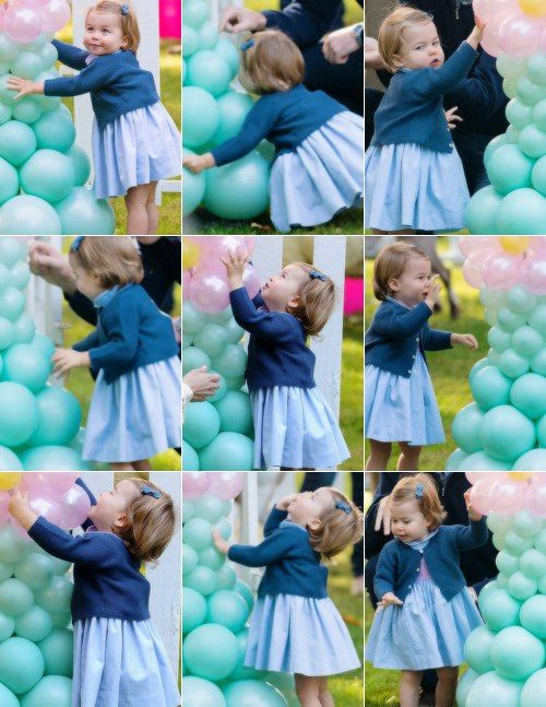 Princess Charlotte at birthday part during Royal Tour of Canada... Adorable!