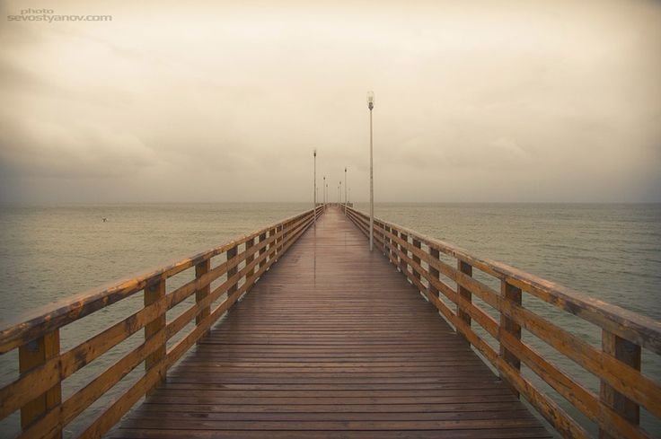 """Pier, From """"Road"""" photo prints series."""