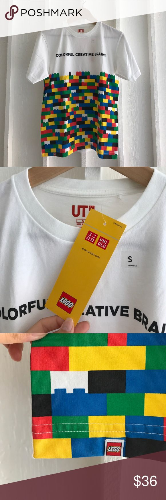 "Uniqlo x Lego collaboration T shirts ""Colorful creative brains"" lego T shirts Uniqlo Tops Tees - Short Sleeve"