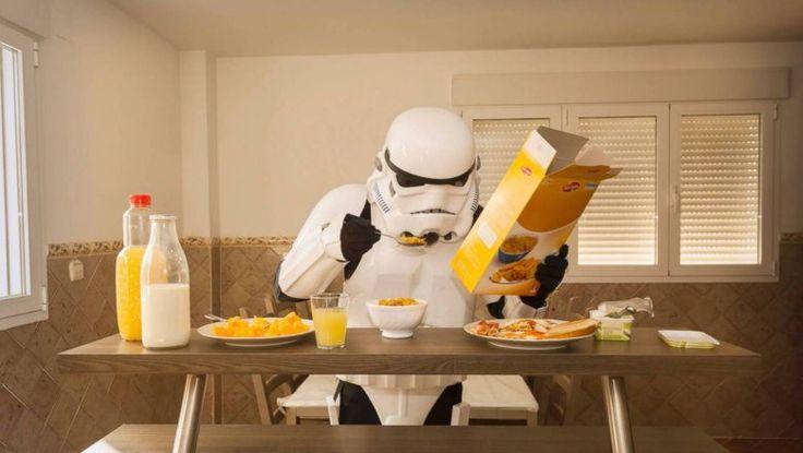 Даже штурмовики озабочены утренним потреблением еды