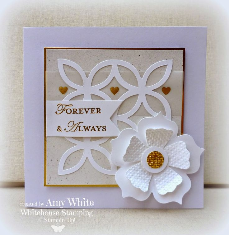 wedding anniversary card pictures%0A Amy White  White House Stamping  White Lattice Wedding            Wedding  AnniversaryAnniversary CardsWhite