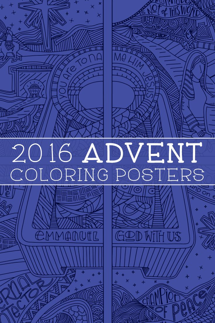 Coloring pages for donna flor - 2016 Advent Coloring Posters
