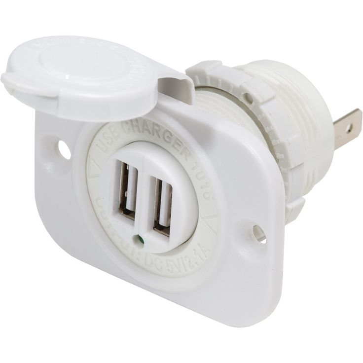 Blue Sea 12V DC Dual USB Charger Socket White Usb