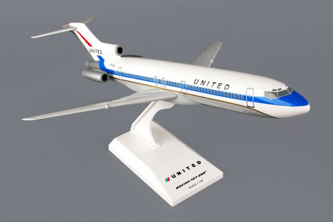 "Skymarks United Airlines ""delivery colors"" Boeing 727-200 1/150 Plastic Model"