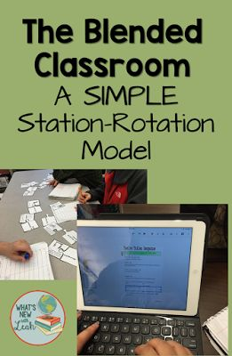 How can you use technology to do stations in secondary education? Easy! This simple Station-Rotation model, which is very much like what is commonly use in elementary schools, is a great way to incorporate at least one digital station while getting your s