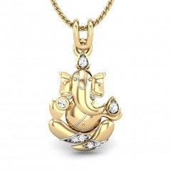 Buy Yellow Gold 18K 2.11 Diamond No Mangal Murti Diamond Pendant Online at Candere.com. All India free shipping plus easy interest free EMI facility with lifetime exchange offer for more information click here ~ http://www.candere.com/mangal-murti-diamond-pendant.html
