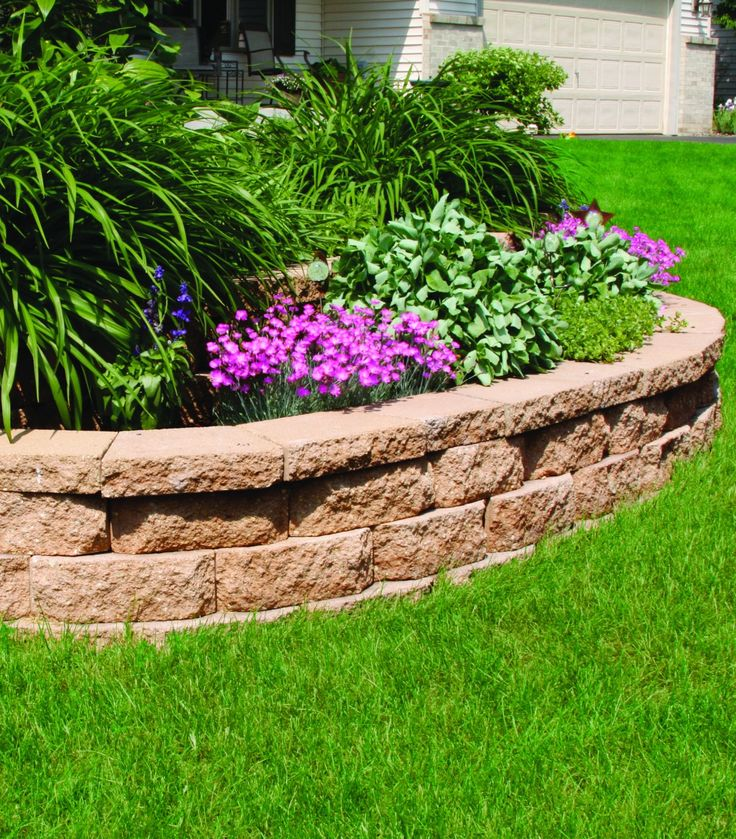 Landscaping Retaining Wall Blocks Menards : Build something beautiful with retaining wall blocks from menards