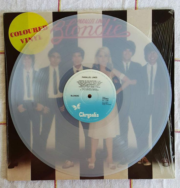 Blondie Parallel Lines Unusual Dutch Pressing On Translucent White Vinyl Circa 1979 Vinyl Records White Vinyl Vinyl