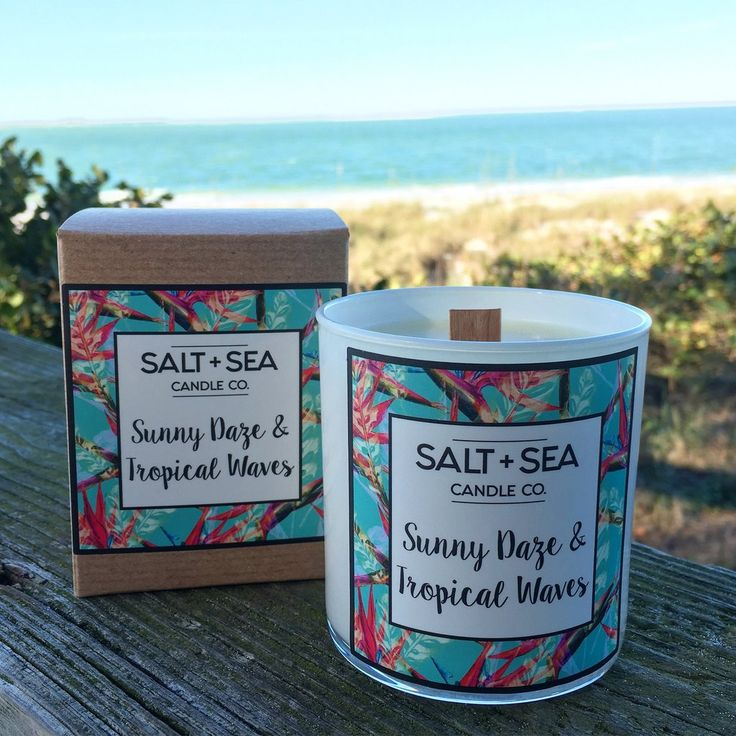 Sunny Daze & Tropical Waves - soy candle || Salt + Sea Candle Co.