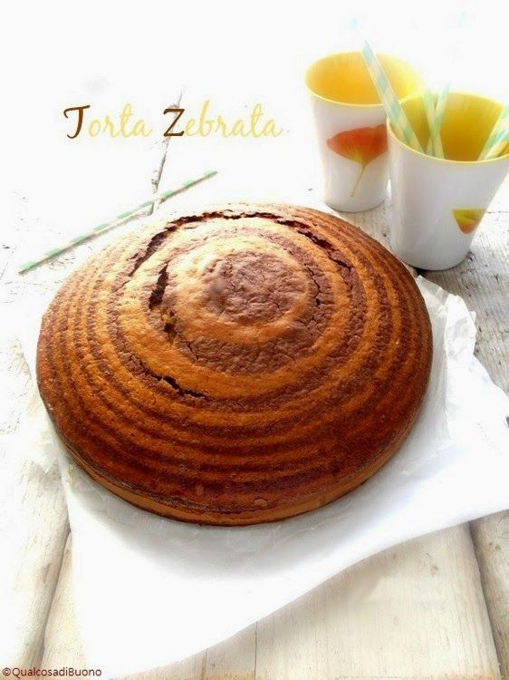qualcosa di buono: La torta a strisce di mamma, ovvero la torta zebrata!