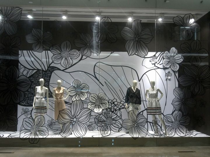 Raoul window display resort 2013 this flower theme display was installed last december 2012