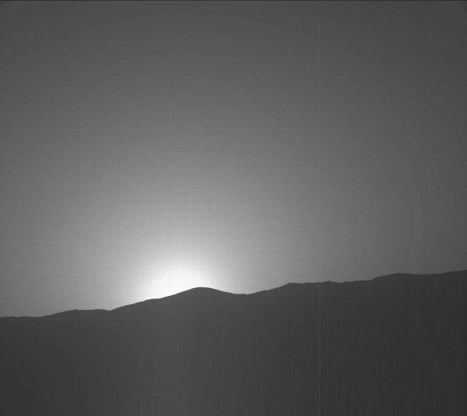 Martian Dusk: Curiosity Rover Captures Stunning Red Planet Sunset