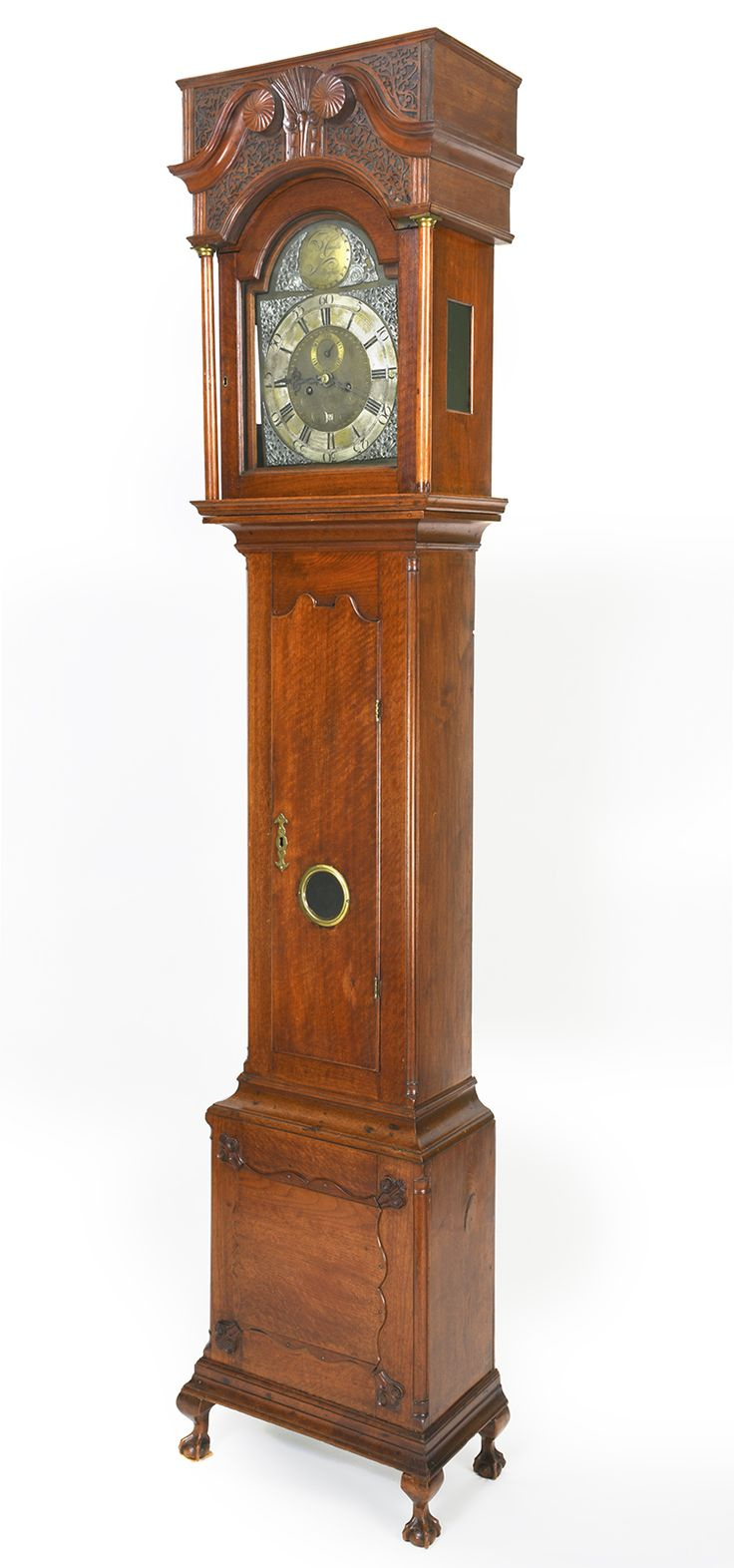 Tall case clock with case attributed to jacob brown and