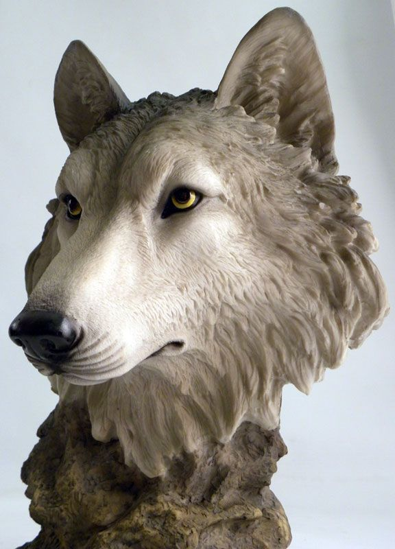 Wolf head sculptures google search pinterest
