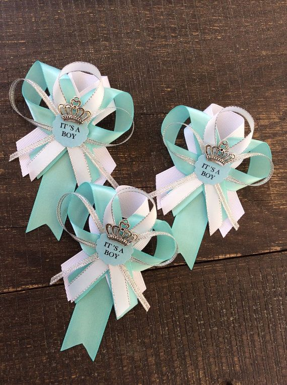 Teal Baby Shower Guest Pins For A Use These Cute As