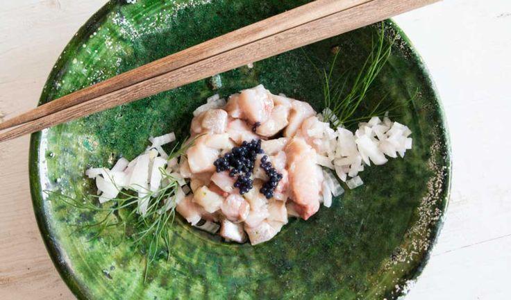 Matjeshering Tatar mit Sesamöl