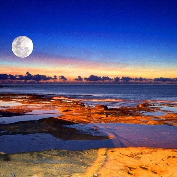 Moonlight over #Caloundra, #Sunshinecoast, #Queensland #Australia  by @stu_art1969 instagram