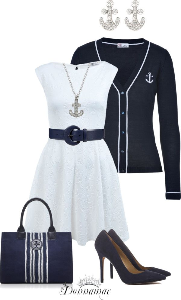 """""""Navy, Anchors, and Sailors"""" by donnamae-harkness on Polyvore"""