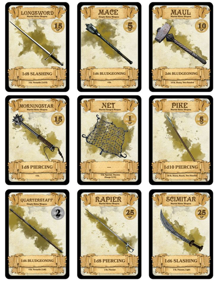 Over 300 Downloadable Printable D D Cards I Made Over 300 Of These Bad Boys To Better Help D D Dungeons And Dragons Tabletop Games Dungeons And Dragons Game