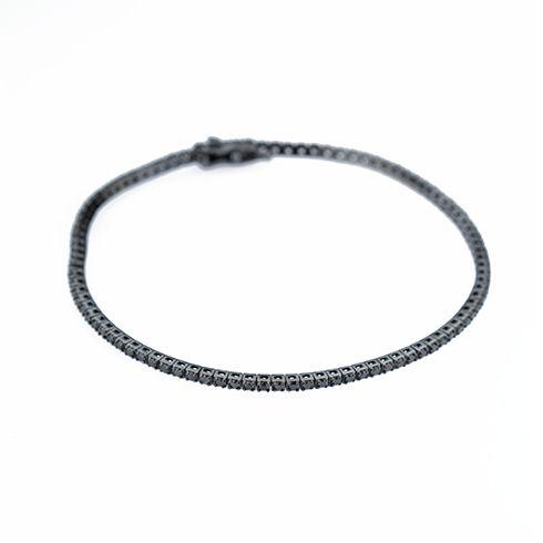 Bratara cu diamante negre C489