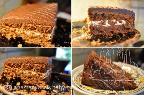 Шоколадно-апельсиновый торт под шоколадной глазурью! невозможно устоять! (Всем любителям шоколада рекомендую вдвойне!!!)  фоторецепт.