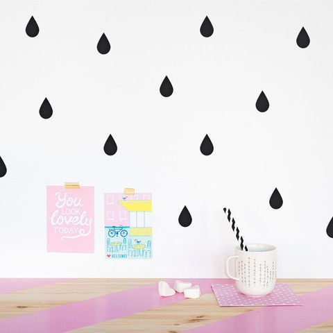 Raindrops Wall Pattern - Made of Sundays  - 1
