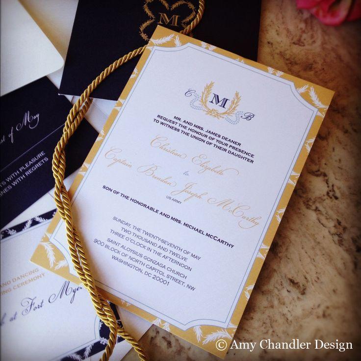 party invitations after wedding%0A Military Invitation   AmyChandlerDesign  Military WeddingsNavy  PartyInvitation