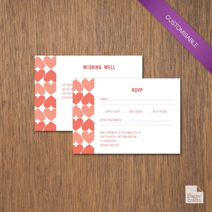 Simple Love - Enclosure Card | DIY Printable by myPaperCraftsau on Etsy | See the complete set here - http://etsy.me/1c8IXWH