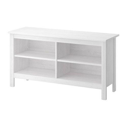 IKEA - BRUSALI, Tv-meubel, wit, , Verstelbare planken; naar behoefte aan te passen.Door de opening voor snoeren kunnen snoeren aan de achterkant makkelijker worden uitgetrokken - netjes weggewerkt, maar toch goed bereikbaar indien nodig.Open vakken voor je dvd-speler enz.